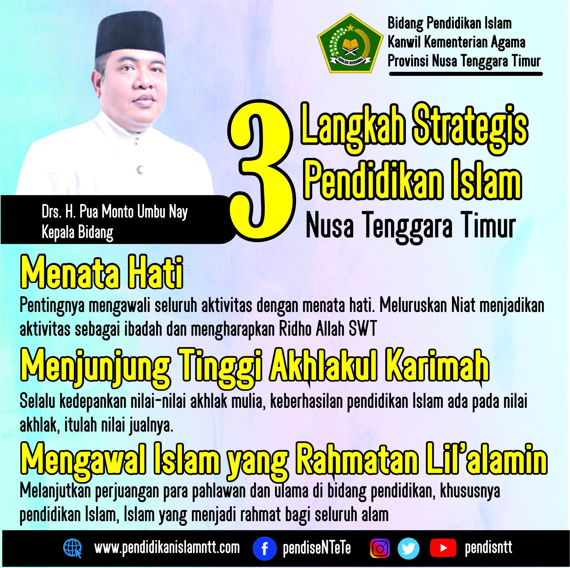 3 Langkah Strategis Pendis